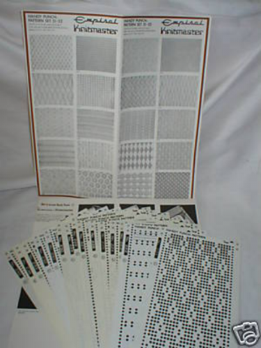 Pre Printed Pattern Sets Knitmaster Knitting Machine K52.51/52